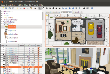 Progettazione Dinterni Gratis : Sweethome3d.com software per il disegno di interni gratuito